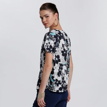 Bossini Printed Round Neck  with Short Sleeves