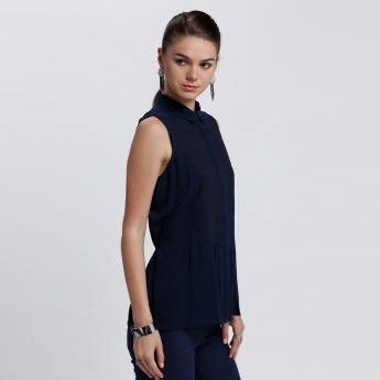 Bossini Sleeveless Top with Hidden Placket