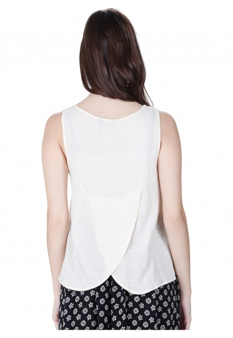 Sleeveless High-low Blouse