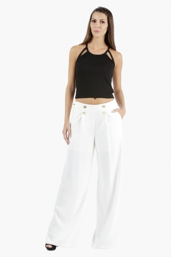 Cut-Out Cropped Top in Regular Fit