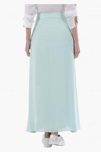Maxi Skirt with Tie-Up Detail in Regular Fit