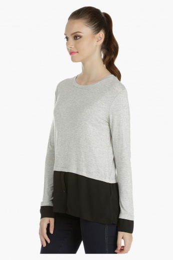 Dual Layer Top with Long Sleeves