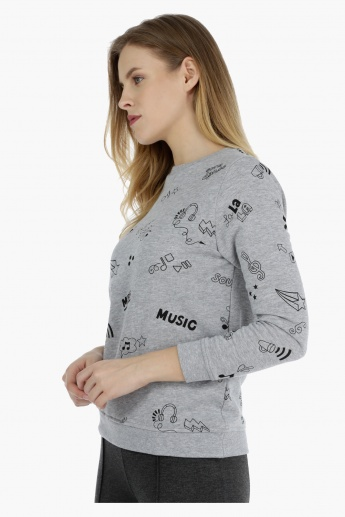 Full-sleeved Graphic Sweat Top