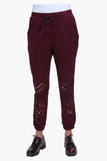 Full Length Jog Pants with Cutwork