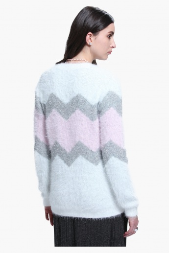 Long Sleeves Round Neck Sweater