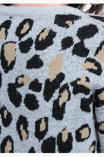 Leopard Print Long Sleeves Sweater