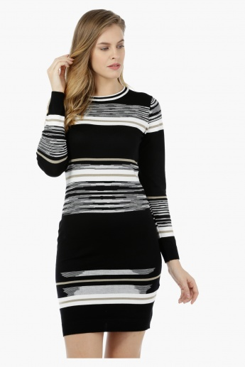 Variegated Striped Dress