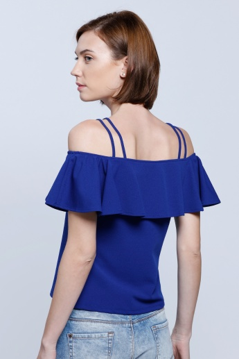 Off Shoulder Top with Dual Straps