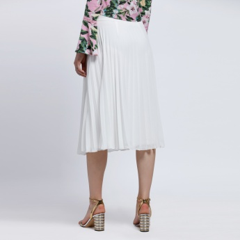Pleated Flare Skirt with Elasticised Waistband
