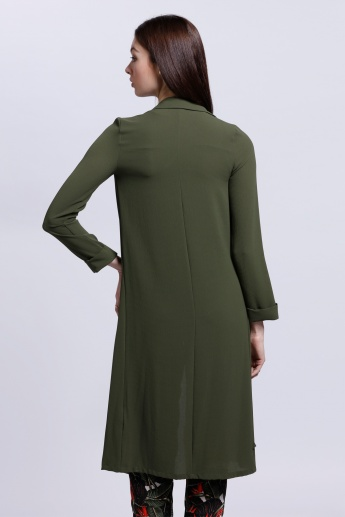 Long Shrug with Long Sleeves and Open Front
