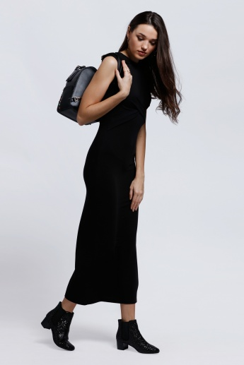 Sleeveless Maxi Dress with Hood
