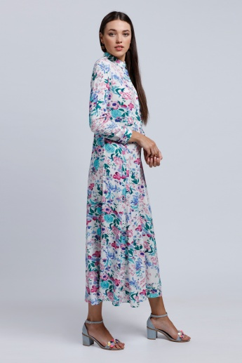 Printed Long Sleeves Tunic Dress