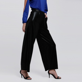 Full Length Palazzo Pants with Elasticised Waistband