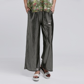 Printed Palazzo Pants with Pocket Detail