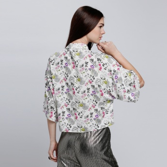 Printed Shirt with Complete Button Placket