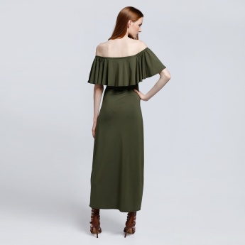 Off Shoulder Column Maxi
