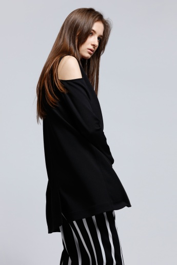 Cold Shoulder Jacket with Long Sleeves