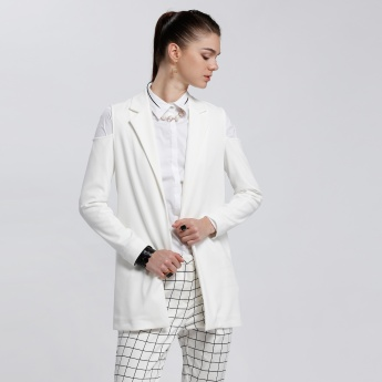 Long Sleeves Blazer with Notched Collar
