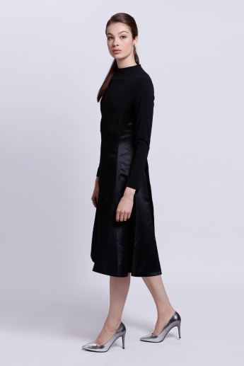 Elle Long Sleeves Dress with High Neck