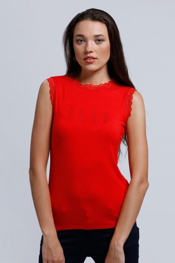 Elle Sleeveless Top with High Neck