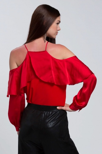 Elle Long Sleeves Ruffle Top