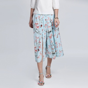 Elle Printed Knee Length Culottes Pants