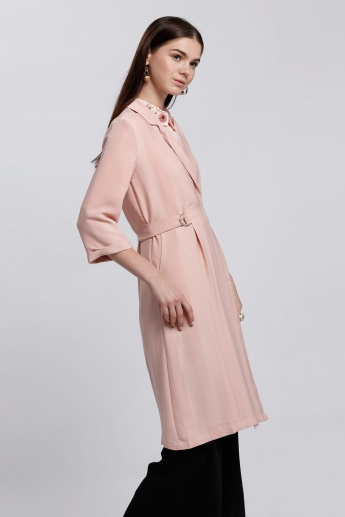 Elle Long Jacket with 3/4 Sleeves