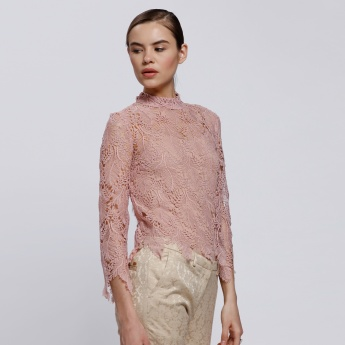 Elle Lace Top with 3/4 Sleeves