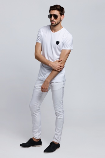 L'HOMME Short Sleeves T-Shirt with V-Neck