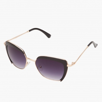 Gild-accented Square Sunglasses