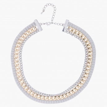 Dual-toned Chain-embellished Necklace