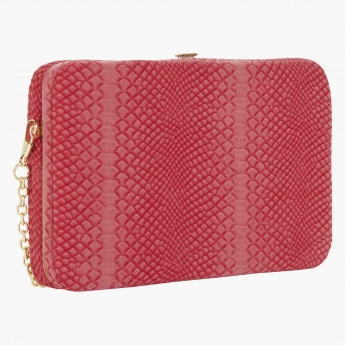 Textured Box Clutch