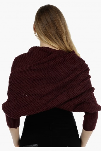 Solid Cross-layered Poncho