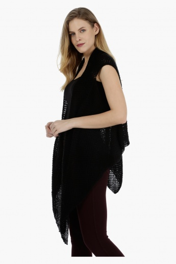 Sleeveless Long Mesh Scarf