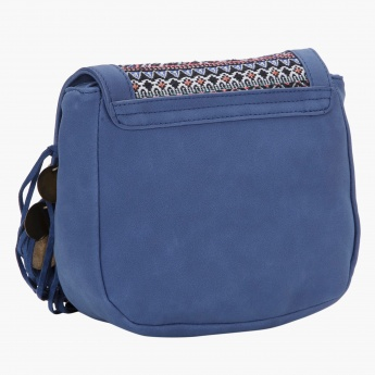 Lee Cooper Embroidered Crossbody Bag