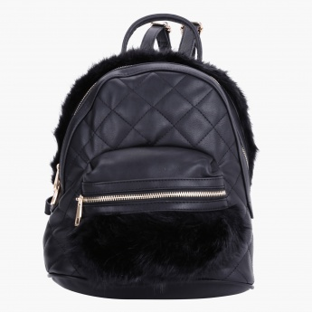 Textured Quilted Backpack
