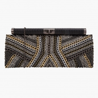 BLACK by Splash Embellished Clutch
