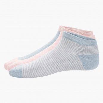 Striped Ped Socks - Set of 3