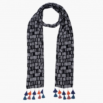 Printed Scarfs with Tassels