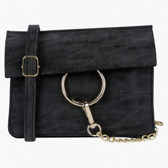 Sling Bag with Magnetic Snap Closure