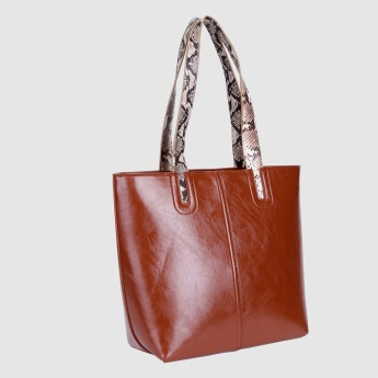 Tote Bag with Zip Closure