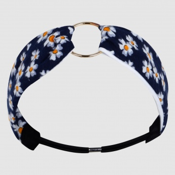 Printed Headbands with Metallic Ring and Elasticised Back Strap