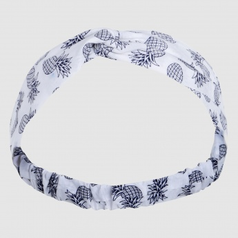 Printed Headband with Elasticised Back Strap
