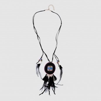 Tribal Long Necklace with Lobster Clasp