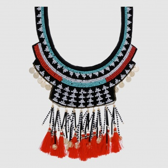 Tribal Bib Necklace with Lobster Clasp