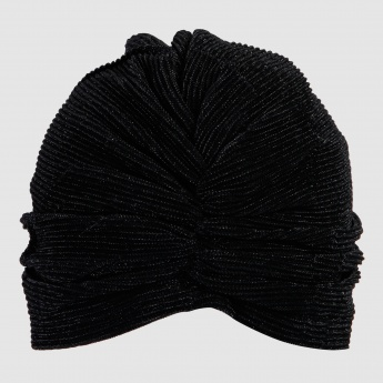 Pleated Womens Turban with Bow