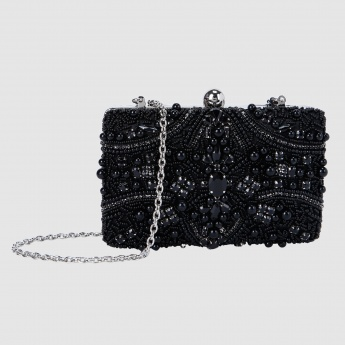 Embellished Clutch with Sling