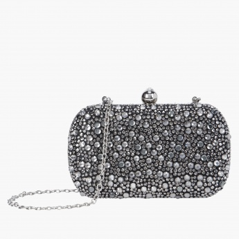 Studded Clutch with  Sling