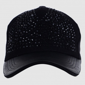 Studded Cap with Tuck-In Closure