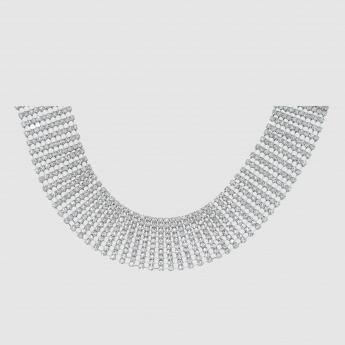 Studded Choker Necklace with Lobster Clasp